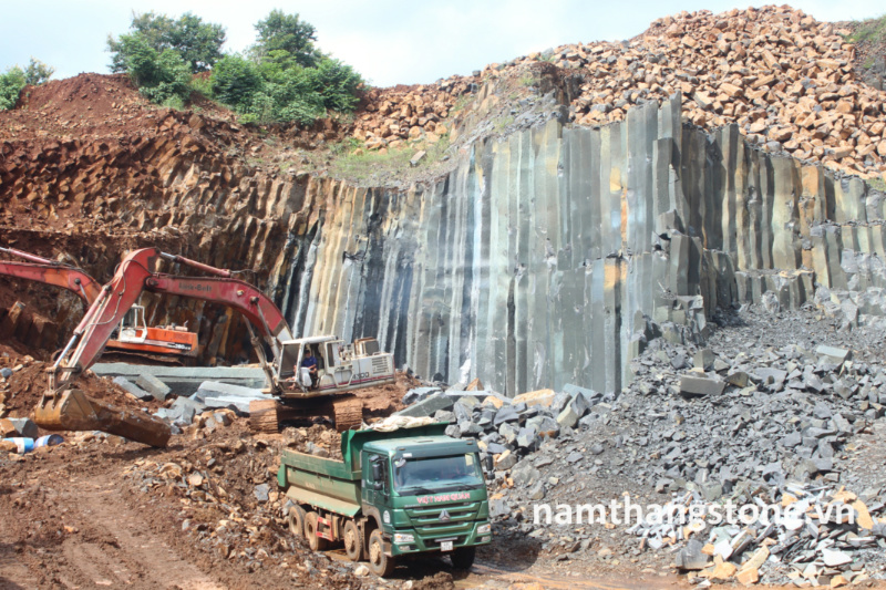 Nam Thang Stone Owned Uniqued Vietnam Black Basalt Quarry